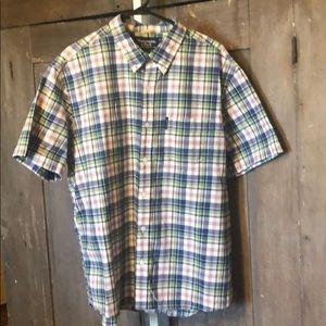 Vintage Abercrombie camp shirt plaid